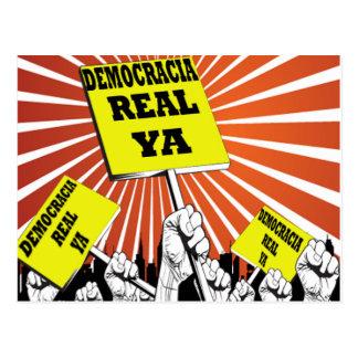 Democracia Real Ya postcard