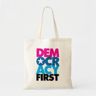 Democracy First Tote Bag