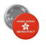 Democracy Hong Kong Orchid Flag 3 Cm Round Badge