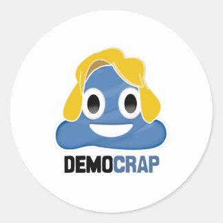 DEMOCRAP EMOJI - -  CLASSIC ROUND STICKER