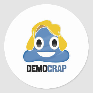 DEMOCRAP EMOJI - -  ROUND STICKER