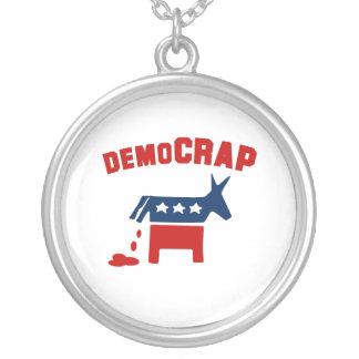 DEMOCRAP ROUND PENDANT NECKLACE