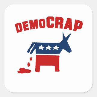 DEMOCRAP SQUARE STICKER