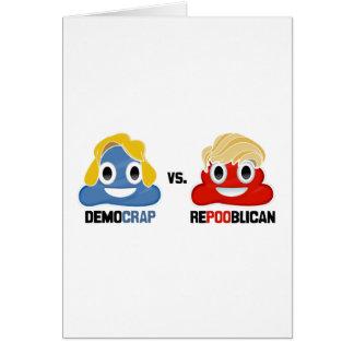 Democrap vs. Repooblican Greeting Card