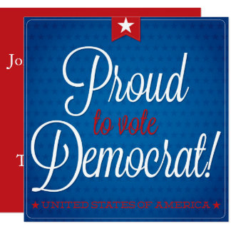 Democrat 13 Cm X 13 Cm Square Invitation Card