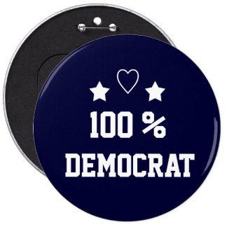 Democrat 2016 6 cm round badge