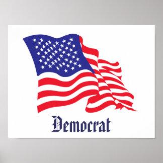 Democrat American Flag Posters