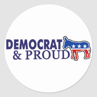 Democrat and Proud Sticker