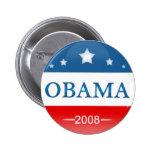 Democrat Barack Obama 2008 Pinback Buttons