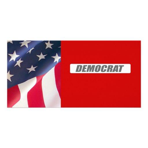 DEMOCRAT BLOCK CUSTOM PHOTO CARD