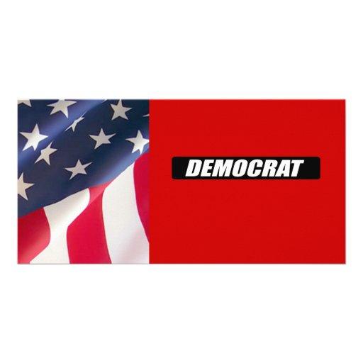 DEMOCRAT BLOCK PERSONALIZED PHOTO CARD