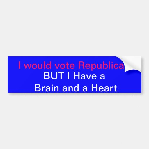 Democrat bumper sticker