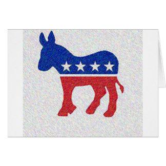 DEMOCRAT GREETING CARD