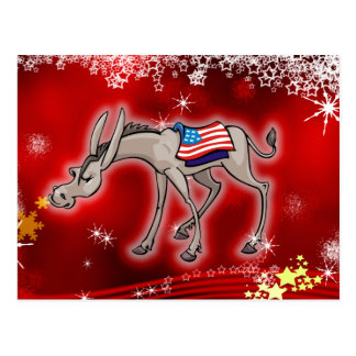 Democrat Christmas Postcard
