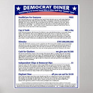 Democrat Diner Poster