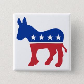 Democrat Donkey 15 Cm Square Badge