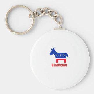 Democrat Donkey Basic Round Button Key Ring