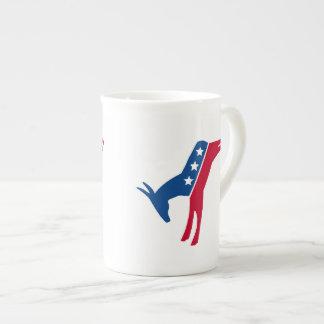 Democrat Donkey Bone China Mug
