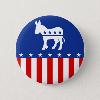Democrat Donkey Button