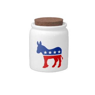 Democrat Donkey Candy Jar