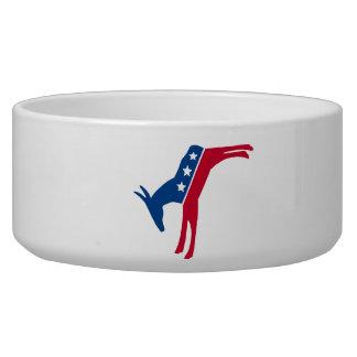 Democrat Donkey Dog Water Bowls