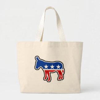 Democrat Donkey Jumbo Tote Bag