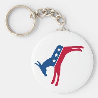 Democrat Donkey Keychain