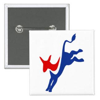 Democrat Donkey Logo 15 Cm Square Badge