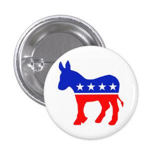 Democrat Donkey Logo 3 Cm Round Badge