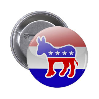 Democrat Donkey Logo 6 Cm Round Badge