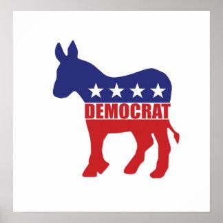 Democrat Donkey Logo Posters
