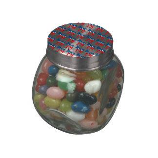 DEMOCRAT DONKEY PATTERN png Jelly Belly Candy Jars
