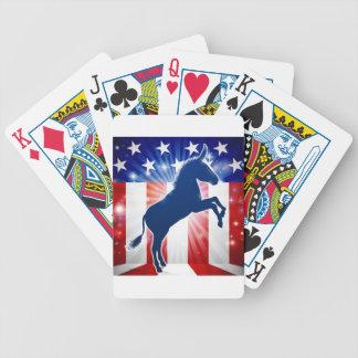 Democrat Donkey Political Mascot Bicycle Playing Cards