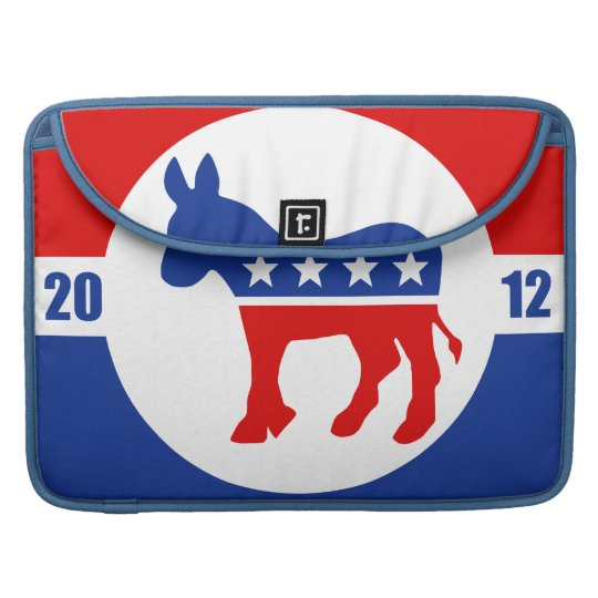Democrat Donkey Rickshaw Flap Sleeve MacBook Pro Sleeves