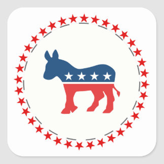 Democrat donkey sticker