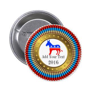 Democrat Election Button - srf