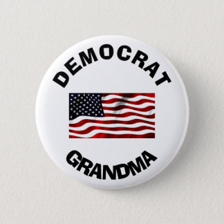 Democrat Grandma Button with American Flag