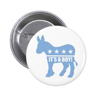 democrat it's a boy pins