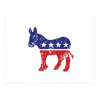 Democrat Original Donkey Distressed Postcard