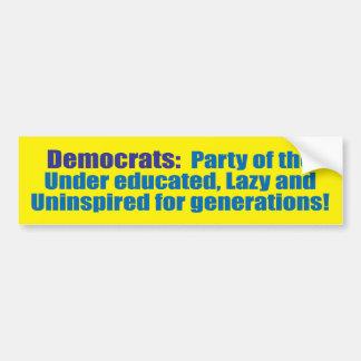 democrat party car bumper sticker