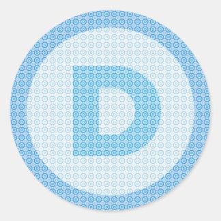 Democrat Party Logo Round Sticker