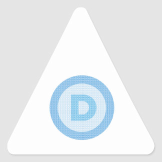 Democrat Party Logo Triangle Sticker
