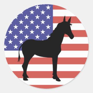 Democrat Party Round Stickers