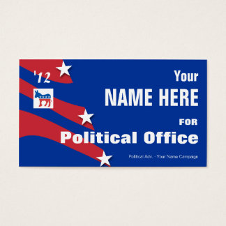 Democrat - Political Election Campaign Business Card