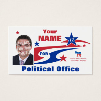 Democrat Political Election Campaign Business Card