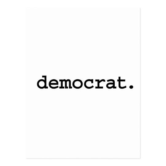 democrat. postcard