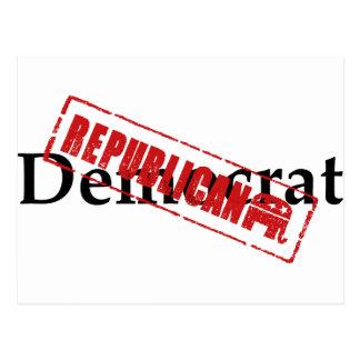 Democrat: REPUBLICAN Postcard