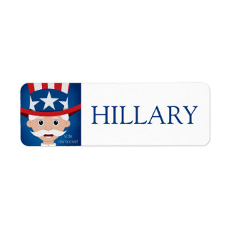 Democrat Return Address Label