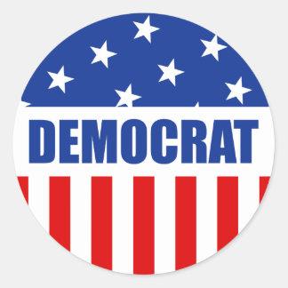 Democrat Round Sticker