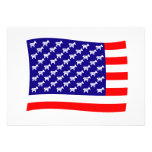 Democrat Stars and Stripes Flag Personalised Announcements